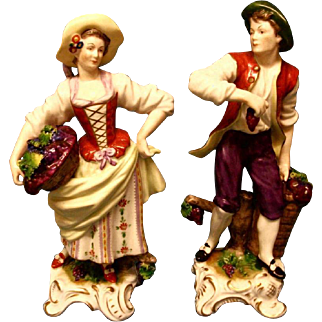 A Pair of Volkstedt (Germany) Figures, c.1965