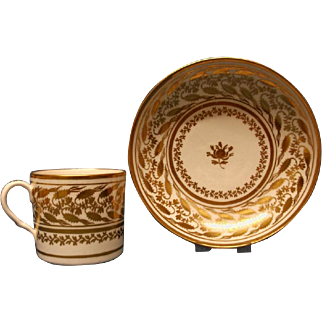 A Coalport Coffee Can and Saucer, c.1805