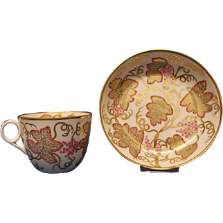 A Minton Bute Shape Cup and Saucer, pattern number, 305, c.1808