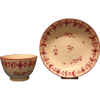 A Staffordshire Tea Bowl and Saucer, c.1800