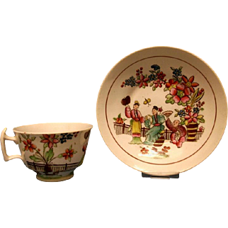A Staffordshire London Shape Tea Cup and Saucer, c.1820