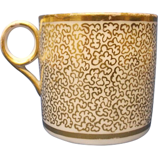 A Minton Coffee Can, pattern number, 254, c.1802