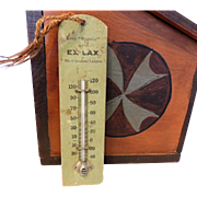 1920s Ex Lax Thermometer Wood Great Decor
