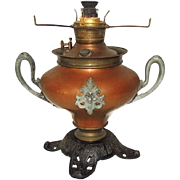 Bradley and Hubbard Copper Victorian Oil Parlor Lamp Base
