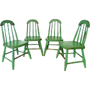 Antique Child's Chairs Set of 4 Windsors Sargent & Sons Boonville NY