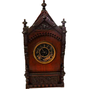 Antique Victorian Cabinet Clock F. Kroeber 1874 German Working