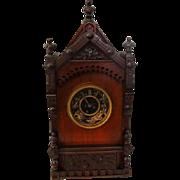 Antique Aesthetic F. Kroeber Cabinet Clock 1874 German Working