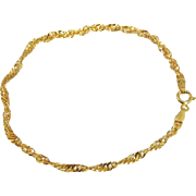 Classic 14k Gold Rope Bracelet Dainty Italy
