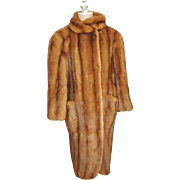 Vintage Fendi Mink Fur Coat 3/4 Length Spotless Inside and Out Honey Brown