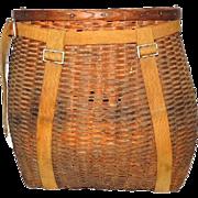 Vintage Adirondack Pack Basket Trappers Basket c1930s
