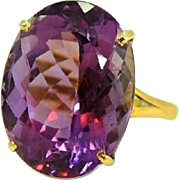 Estate 14+ Carat Amethyst Ring 14k Gold Exquisite Purple Gem