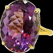 Estate 14+ Carat Amethyst Ring 14k Gold Exquisite Purple Gem
