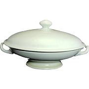 1870 Ironstone Oval Covered Bowl Tureen by T R Boote Antique White Beautiful Condition