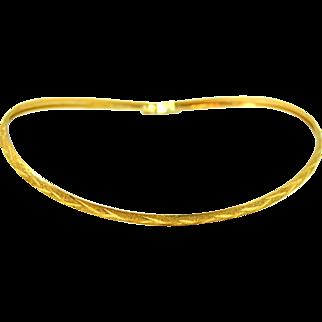 Vintage 10k Gold Hinged Bangle Bracelet Shimmering Etched Design