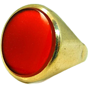 Antique Carnelian Ring 9kt Gold Charles Jamison Ltd. 19th Century