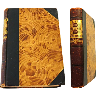 Antiquarian Book 1896 Life and Speeches of William McKinley 1st Ed