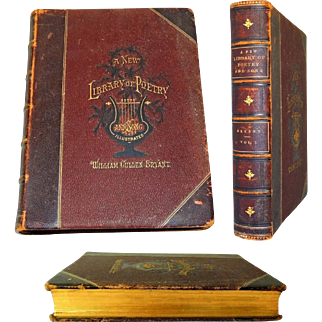 1877 A New Library of Poetry and Song Vol. 1 - Victorian Era w Engravings