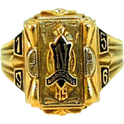 Vintage Narbonne High School Class Ring 10k Gold Los Angeles 1956
