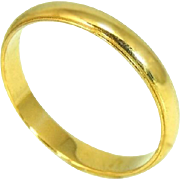 14k Men's Wedding Band Gold Men's Ring Vintage