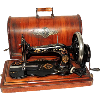Singer Sewing Machine Model 12k Fiddle Base 1885 Portable with Case