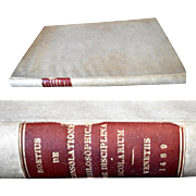 Rare Book 1489 Boetius De consolatione philosophica, De disciplina scolarium, Boethius The Consolation of Philosophy ethics; The training for students