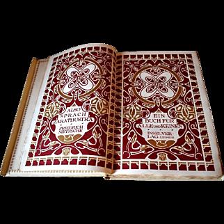 1908 Also Sprach Zarathustra, Friedrich NIETZSCHE, Art Nouveau Designs Henry van der Velde Number 360 of 530