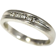 Men's 14k Diamond Band Ring Wedding Band White Gold .25 carats