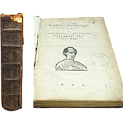 The Works of Machiavelli Historie and Discorsi c1635 Italian Printing