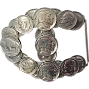 ROCKABILLY Belt Buckle Buffalo Nickels Dimes