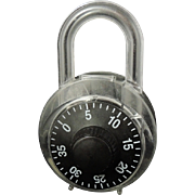 PADLOCK Bank - Opens like PADLOCK with Combo - 1985 Retro Style
