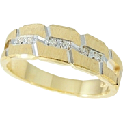 DIAMOND Wedding Band Ring14k Gold