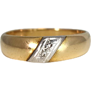 DIAMOND Accent Band Ring 14k Gold Wedding Ring