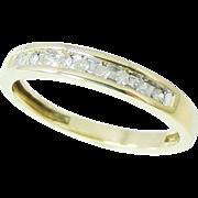 DIAMOND Wedding Band Ring 10k Gold .20 ctw