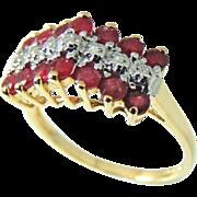 RUBY Diamond Ring 10k Gold  .94 ctw