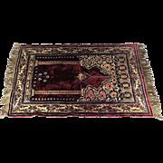 Persian Tabriz Prayer Rug Made in Italy Vintage