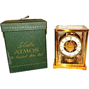 1950s LeCoultre Atmos Clock 526-5 Needs Tune Up Original Box