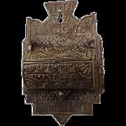 Victorian Iron Match Safe Aesthetic 19th Century Antique