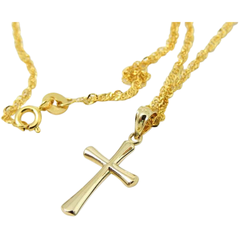 premier designs gold cross necklace