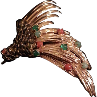 Multi-textural - Henkel & Grosse Bird of Paradise Pin -  Rare 1963 Beauty -  SALE!!