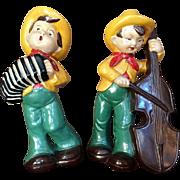 1940-50's Chalkware Singing Cowboy Figurine Statue