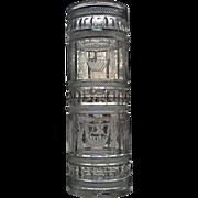 RARE L. Straus and Sons Maltese Urn Pattern Vase  Umbrella Stand  c.1917