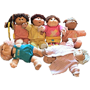 c.1982 SET-SIX  Cabbage Patch Kid  Hard Head  Xavier Roberts