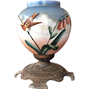 Victorian Lamp 1860-90's Hand Painted Gorgeous