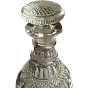 VERY EARLY 1817-1830 Cut Glass Two Ring Decanter Museum Piece