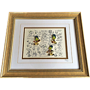 Retired Disney Jiminy Cricket Model Sheet w/Pins Limited Edition
