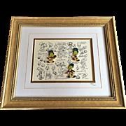 Retired Disney Jiminy Cricket Model Sheet w/Pins Limited Edition