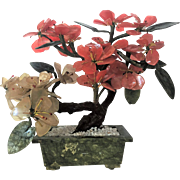 "11""x13"" Oriental Chinese Jade Tree Bonsai Tree GEMSTONES 6 lbs."