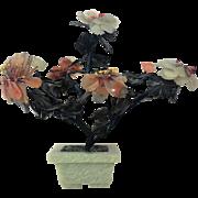"Oriental Chinese Jade Tree Bonsai Tree GEMSTONE 7 1/2"" x  7 1/4"""
