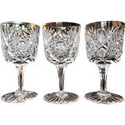 ABP 1890's Cut Glass Water Goblet  Wine