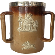 Royal Doulton Lambert Sterling c.1885 Queen Victoria Trophy Three Handles